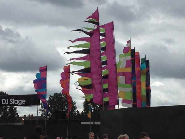 Hackney Weekend: colourful flags