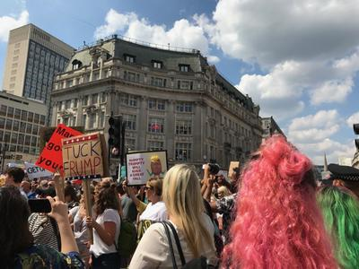 Anti-Trump protestors, London, July 2018